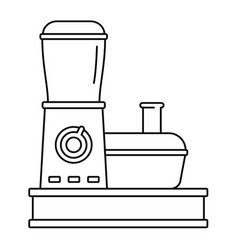 Food processor icon outline style vector