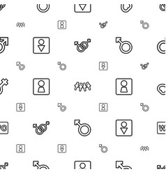 Gender icons pattern seamless white background vector