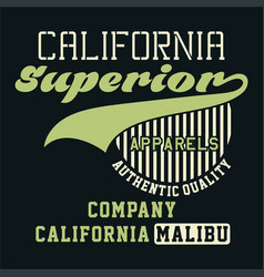 Graphic california superior apparels vector