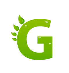 Green eco letter g illiustration vector