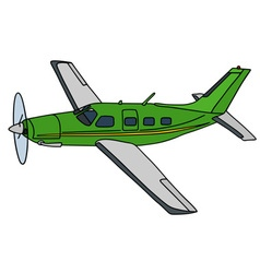 Green propeller airplane vector