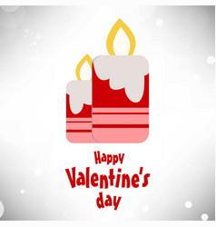 happy valentines day typographic and light vector image