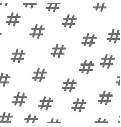hashtag symbol seamless pattern isolated on white vector image