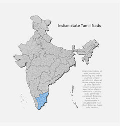 India country map tamil nadu state template vector