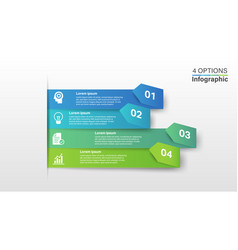 infographic design template with 4 steps vector image