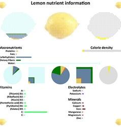 Lemon nutrient information vector