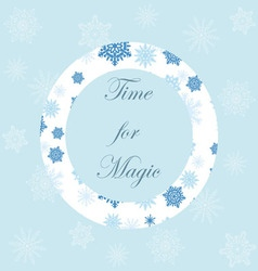 Light Christmas background with snowflakes and orn vector image