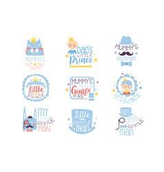 little prince set of prints for infant boy room or vector image