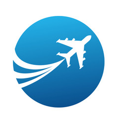 Logo with airplane vector