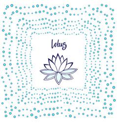 lotus flower cute zen vector image
