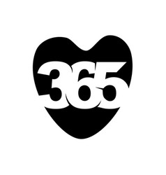 Love care 365 infinity logo icon design black vector