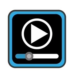 Media player control panel icon vector