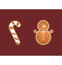 Merry christmas cookies card vector