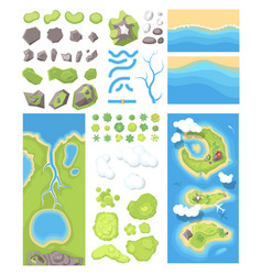 Natural landscape - modern set of vector