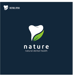 nature dental logo designs concept dental clinic vector image