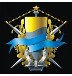Navy emblem vector image
