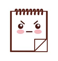 note book kawaii character vector image