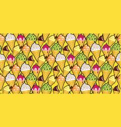 random ice cream cones vector image