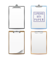 realistic clipboards set mock up for your vector image