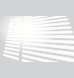 realistic window light and shadow shadow overlay vector image