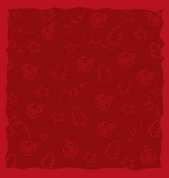 red background christmas pattern vector image