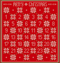 red knitted advent calendar vector image
