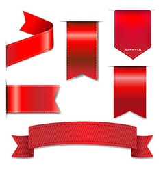 Red Web Ribbons Set vector image