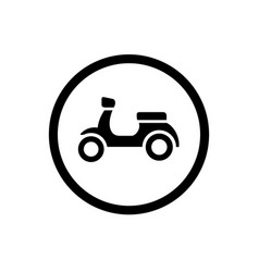 scooter and outline circle icon vector image