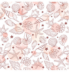 seashells seamless background vector image