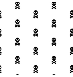 Skull black and white continuous pattern vector