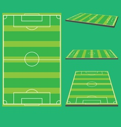 Soccer field preview vector