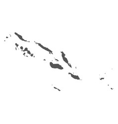 Solomon islands map black icon on white background vector