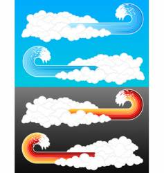 splash wave cloudy elements vector image