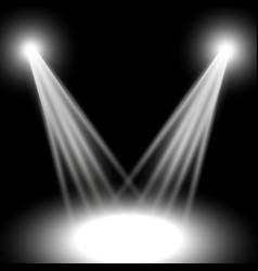 Spotlight light effect vector