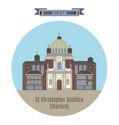 St Christopher Basilica Charleroi vector