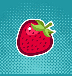 Strawberry fruit icon design vector