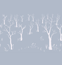 trees winter christmas landscape background with vector image