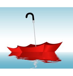 Umbrella on the water vector image