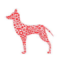 Zodiac symbol of a chinese new year dog 2018 a vector