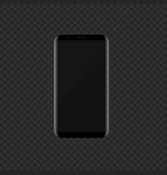 black smartphone with modern design vector image