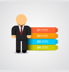 business man infographics with options vector image vector image