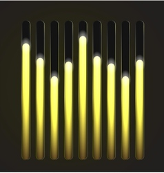 Equalizer glossy glowing track bar vector image vector image