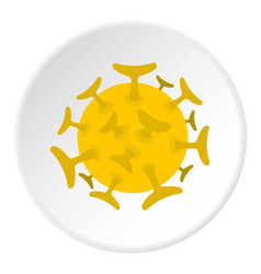 round viral bacteria icon circle vector image vector image