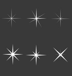 sparkle lights stars set glowing light effect vector image