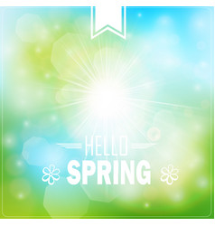 spring typography poster or greeting card design vector image
