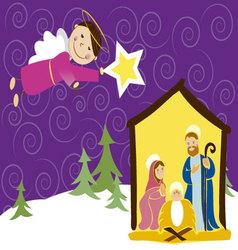 angel in Christmas vector image