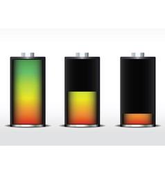 battery gradient vector image