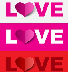 Love design set vector image vector image