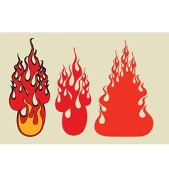 Set fire gaming style vector image
