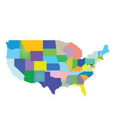 usa map colorful vector image vector image